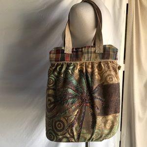 Paul Brent large canvas palm tree design bag